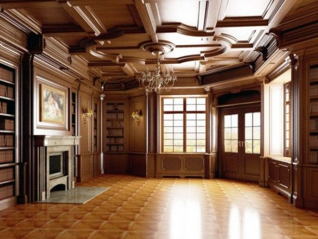 Classic House Awesome Wooden Cabinet Luxury Library Classic Wooden House English Design