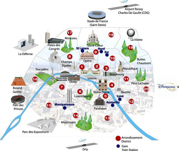 Populaire carte de paris avec ses monuments - Yahoo Image Search Results  KE39