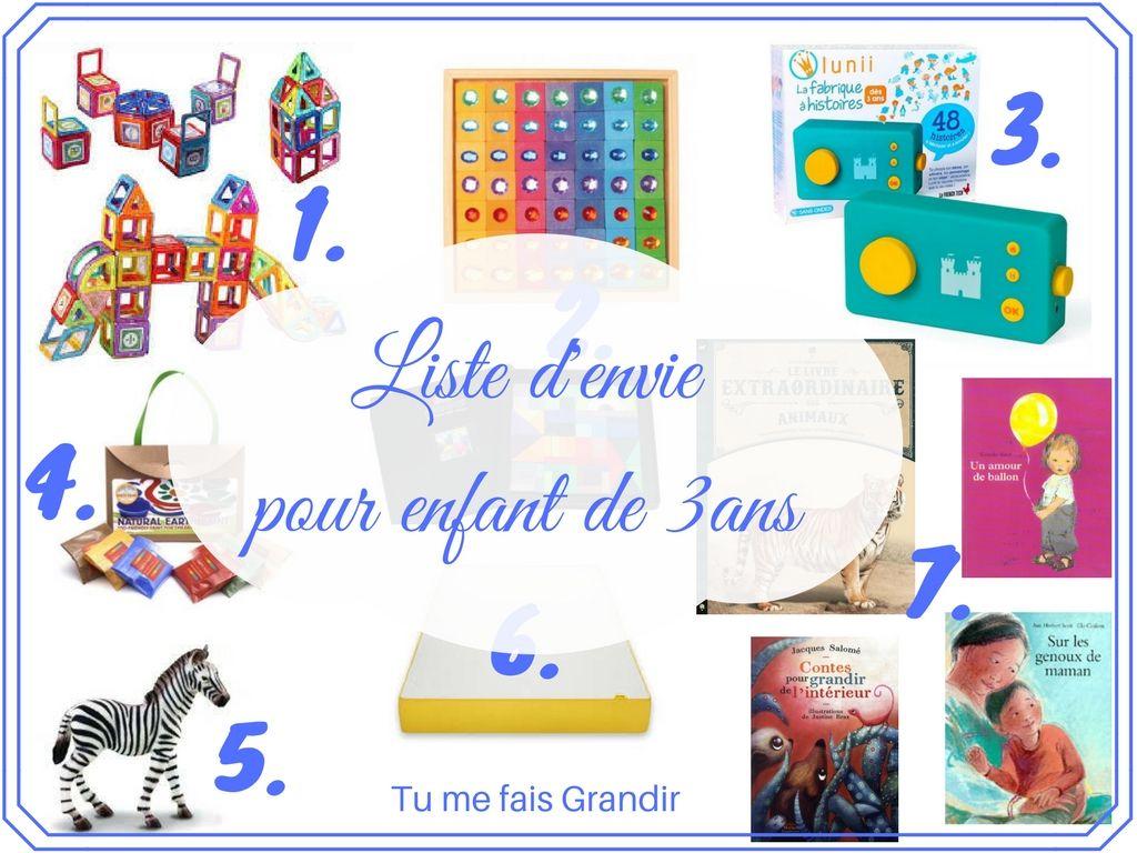 Cadeau Noel 3 Ans Liste d'envie de ma fille 3ans | Cadeau enfant 3 ans, Cadeau