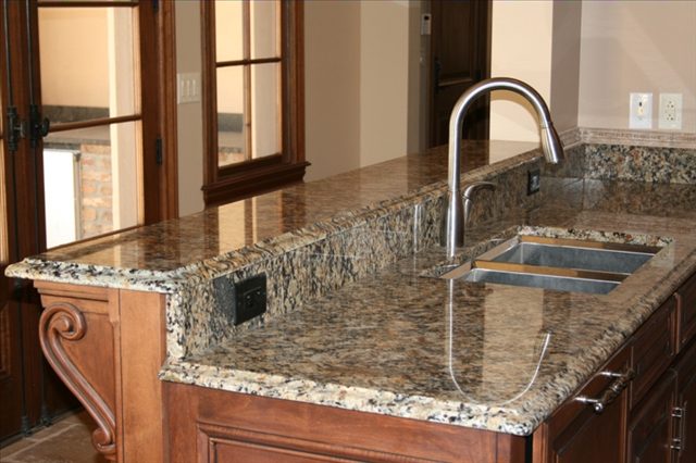 EZ Faux Granite- can you believe the counter top is actually old ...