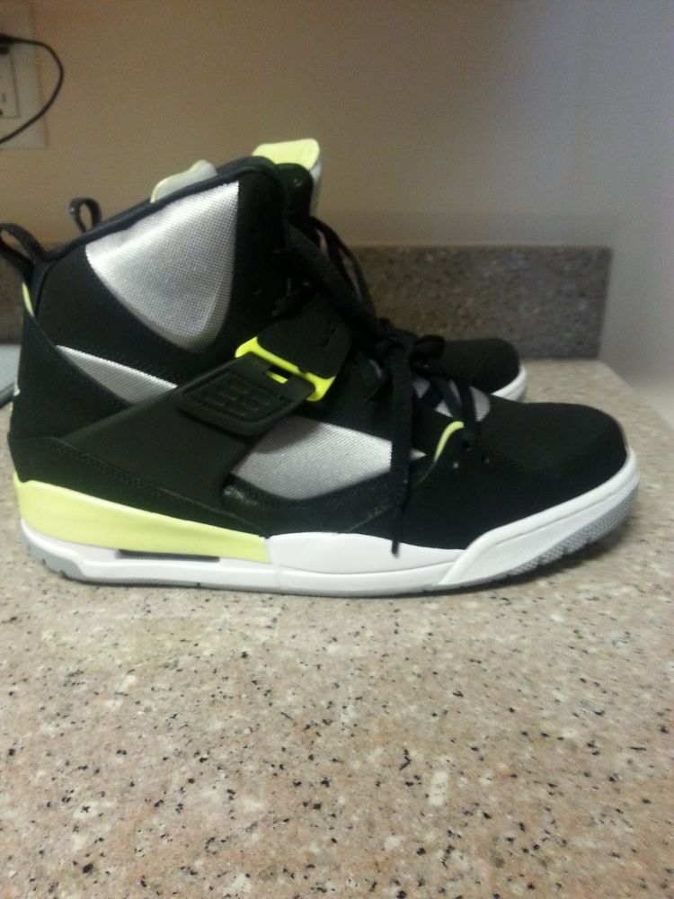 Men s Nike Jordan Flight 45 High BLACK WHITE-VOLT ICE-WOLF GREY 616816 040   Nike  616816040 83b3e15f2
