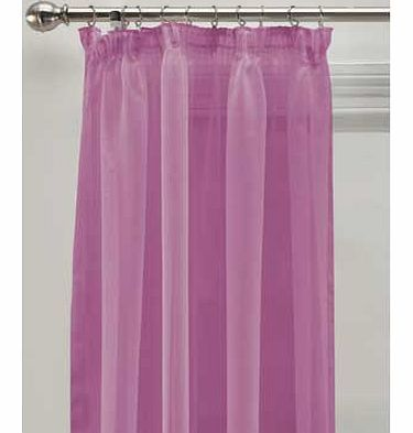 ColourMatch Voile Panels - 152x228cm - Purple Fizz This gorgeous voile panel curtain in a stunning purple shade instantly transforms the look of the room. The sheer curtain also retain the light whilst keeping privacy. Made from 100% polyester. Unline http://www.comparestoreprices.co.uk//colourmatch-voile-panels--152x228cm--purple-fizz.asp