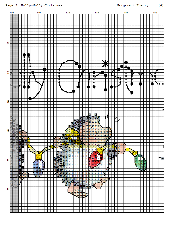 Holly-Jolly Christmas 3/5 | cross stitch | Pinterest | Punto de cruz ...