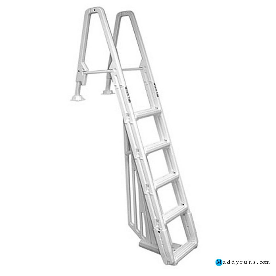 Swimming pool evolution in pool ladder swimming pool ladders for above ground pools ideas for Above ground swimming pool ladder parts