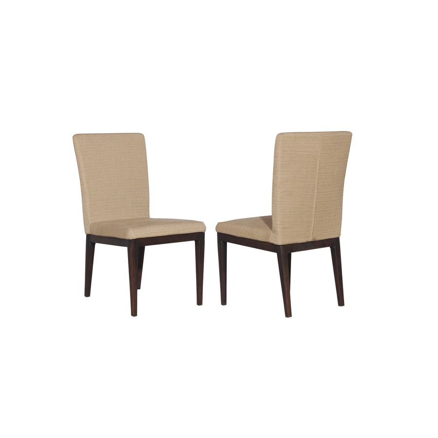 Allen Roth Set Of 2 Dellinger Brown Cushioned Seat Aluminum Patio Dining Chairs At
