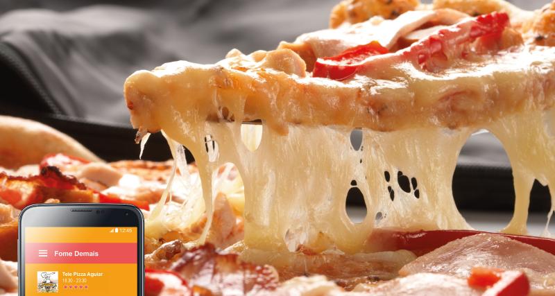Uma imagem vale mais do que mil palavras... Então corre, acesse nosso site ou aplicativo e peça logo a sua!  #FomeDemais #AmoPizza #Queijo