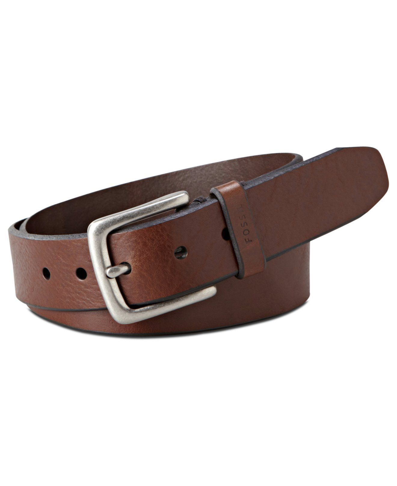 Fossil Joe Casual Leather Belt & Reviews All Accessories