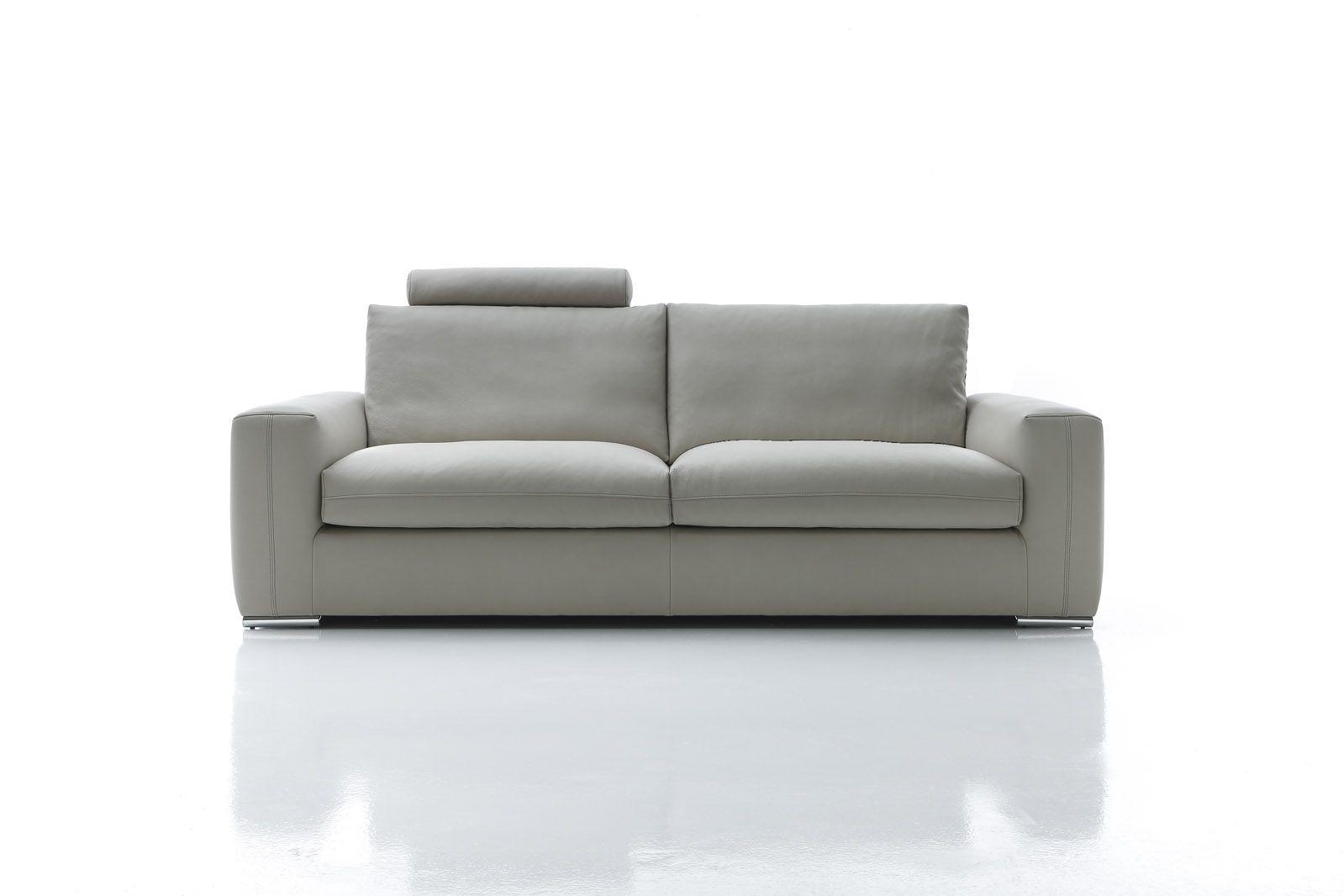 divano due posti grande in pelle Charles Tino Mariani