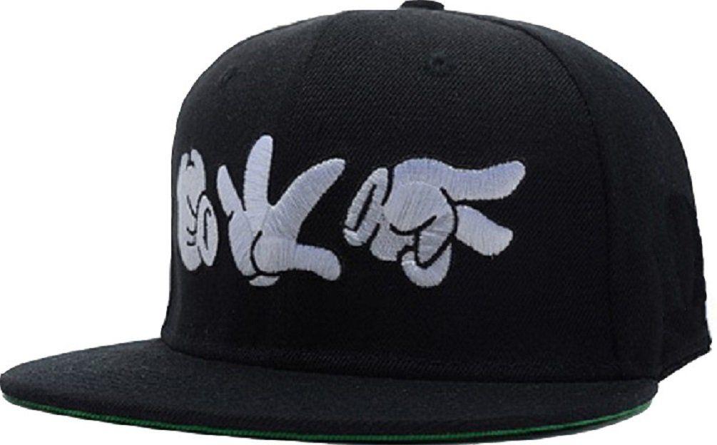 65c65374 Cartoon Stlye Mickey Hands Black Snapback Cap Hat for Men Baseball Cap  H14084