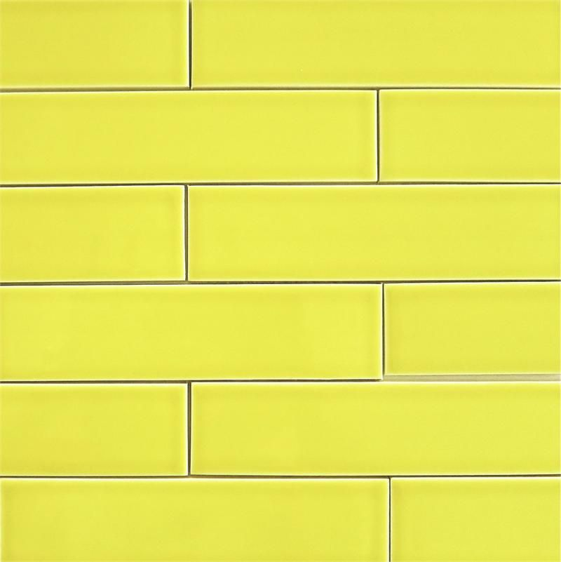 Ceramic Subway Tile For Kitchen Backsplash Or Bathroom Tile In Yellow Color  Limoncello