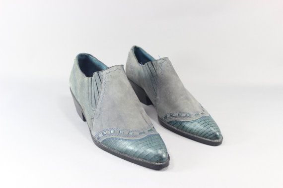 Dusty Blue Ankle Boots