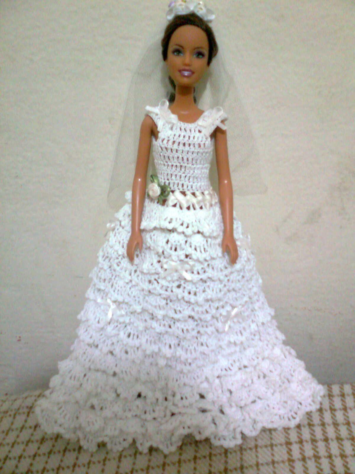 Bonecas De Croche Com Imagens Bonecas De Croche Roupas Barbie