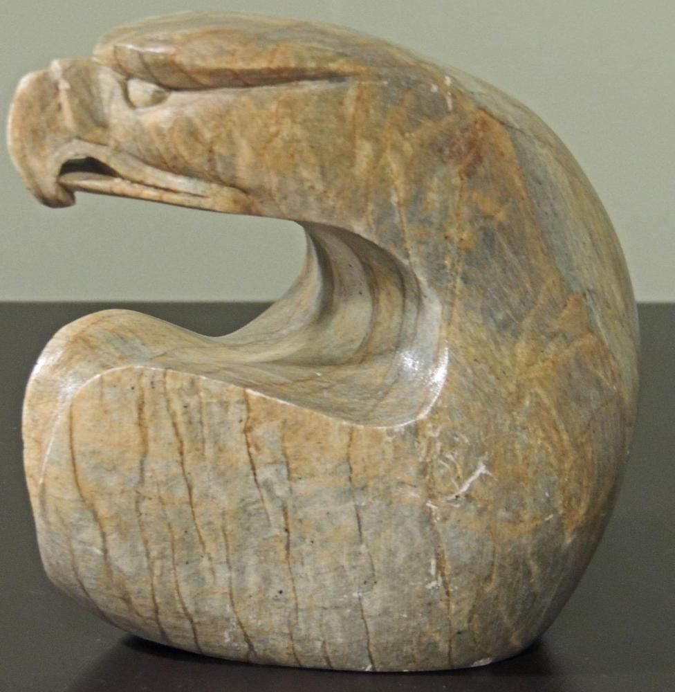 Eagle soapstone sculpture native art signed ben henry