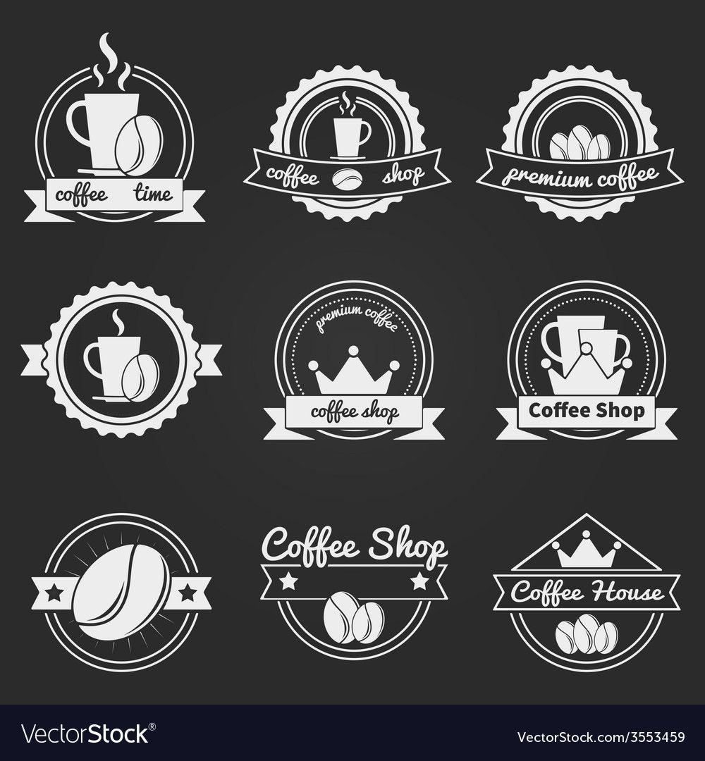 Set Of Coffee Shop Logos Or Vintage Vector Labels, Bages