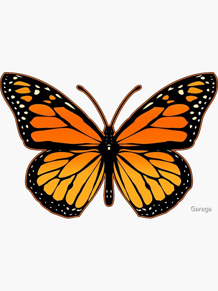Monarch Butterfly Sticker By Garaga In 2021 Butterfly Art Painting Monarch Butterflies Art Butterfly Illustration