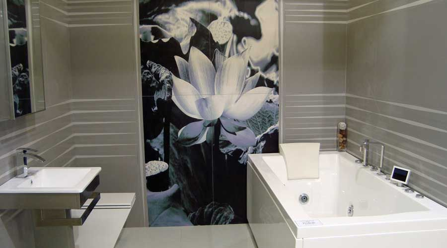Large Format Porcelain Tiles Make A Real Statement In Any Size Bathroom. # Large # Part 70