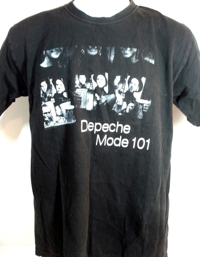 DepecheMode  101 T Shirt Small  Electronica New Wave  Alternative Black Tee   Hanes  TShirt  forsale  eBay 424218665