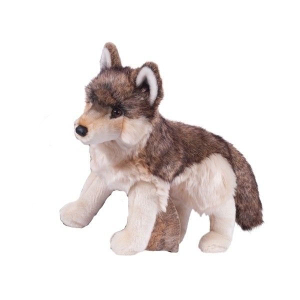 Smoke the Large Plush Wolf by Douglas at Stuffed Safari (42 CAD) ❤ liked on Polyvore featuring wolf