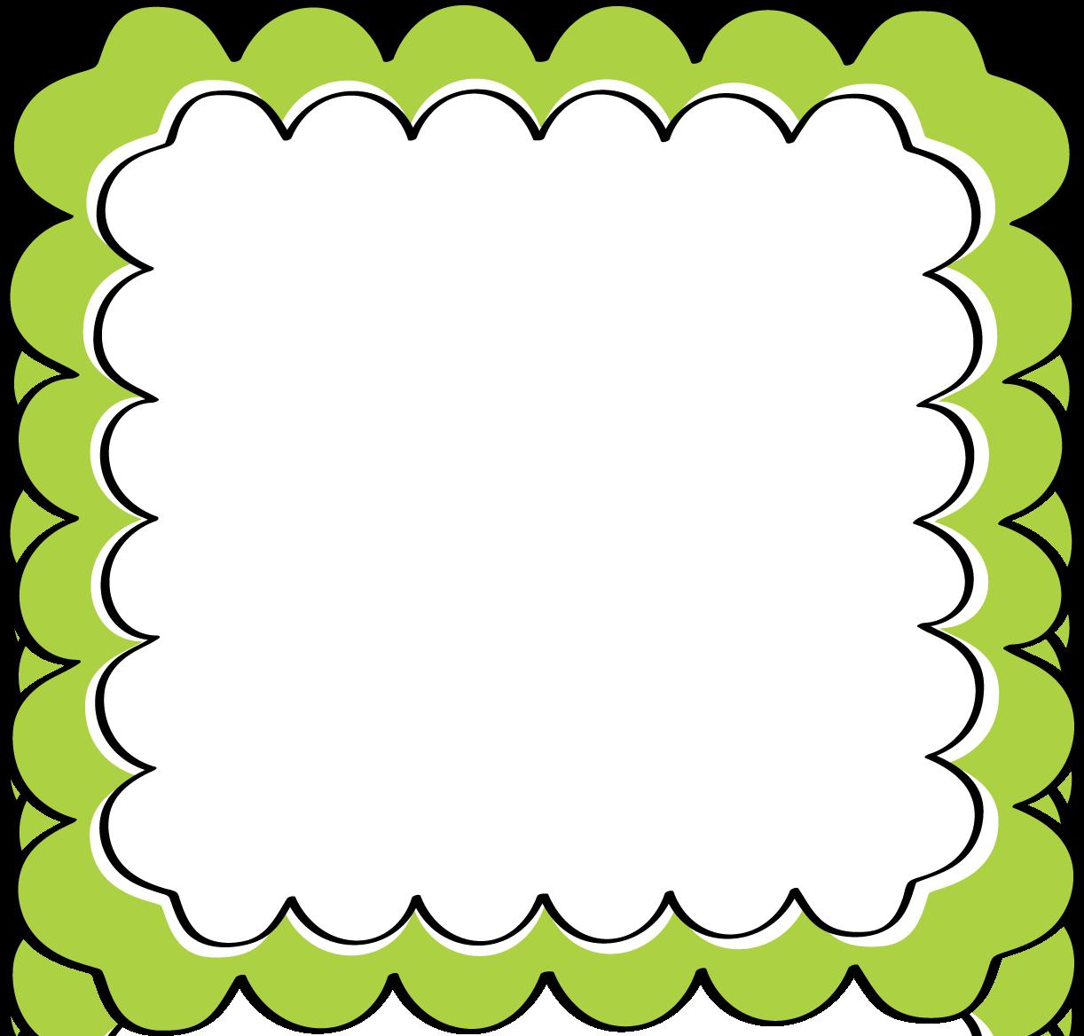 school theme border clipart green scalloped frame free clip art frames [ 1222 x 1168 Pixel ]