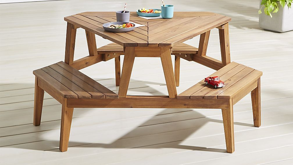 Modern Kids Picnic Table Crate And, Outdoor Kids Table