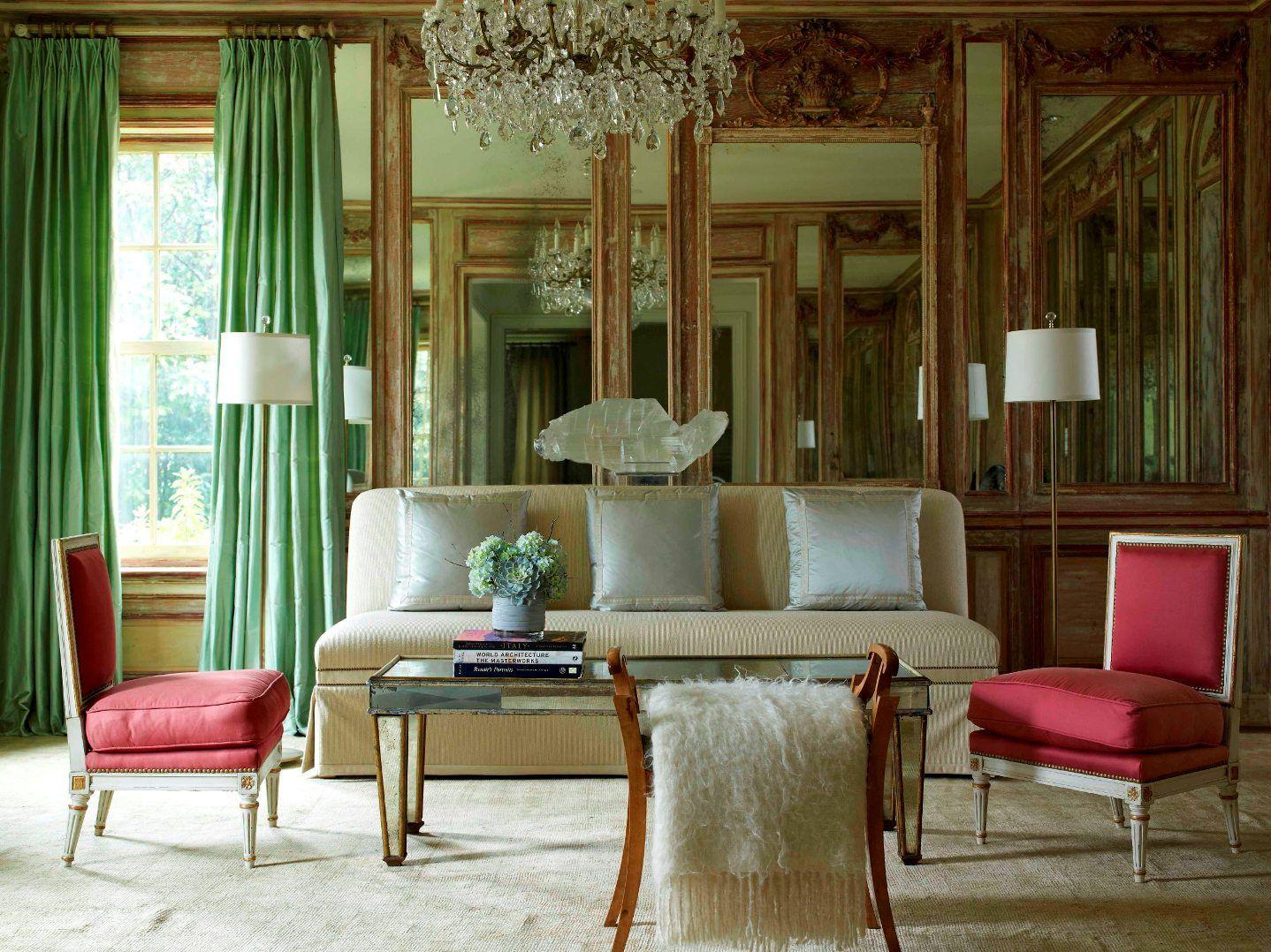 formal living room formallivingroom redchair