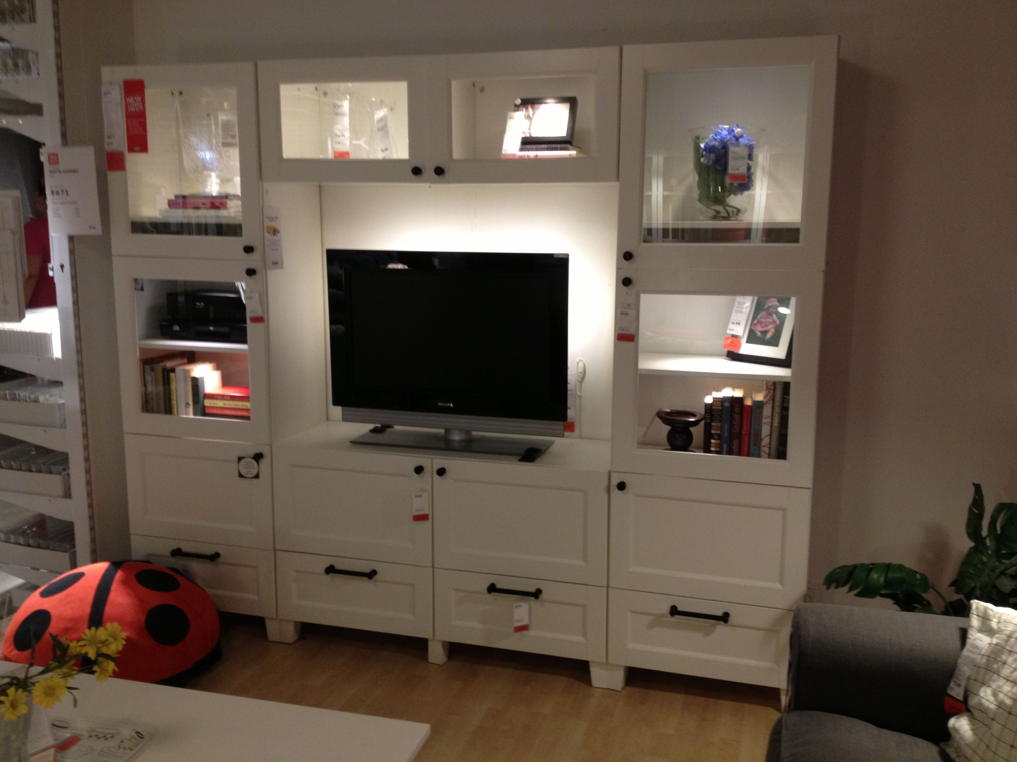 ikea media center love the doors on the shelves ikea entertainment centers pinterest. Black Bedroom Furniture Sets. Home Design Ideas