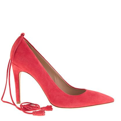 jcrew  falsetto suede ankletie pumps with images