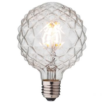 crystal LED filament light bulb by cablelovers.com