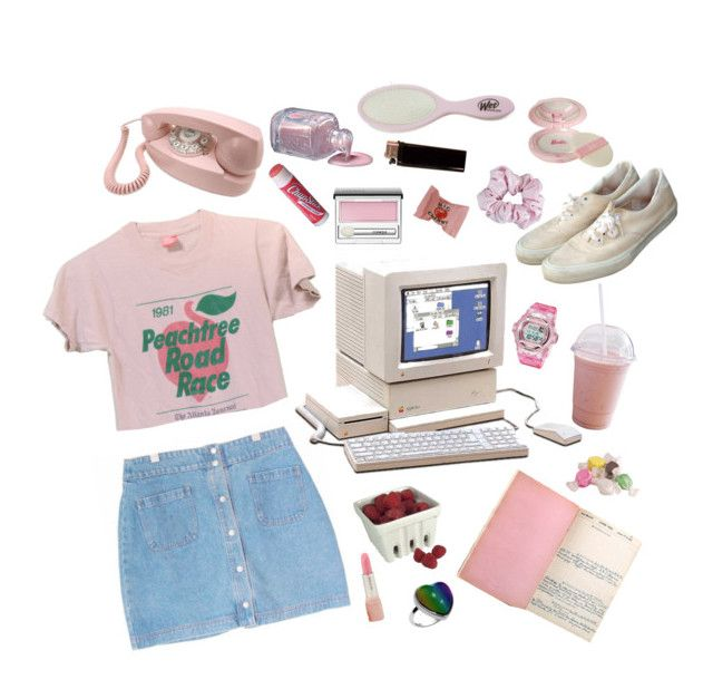 """""""summer 1999"""" by starlettekay ❤ liked on Polyvore featuring New House Textiles, Artland, Paul & Joe, Salt Water Sandals, Casio, American Apparel, Chapstick, Clinique and 90s"""