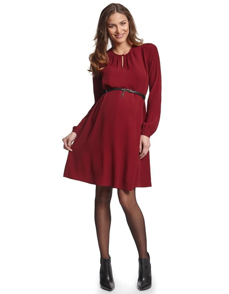 bordeaux woven crepe maternity dress seraphine festive fashion christmas party outfit love maternity style fashionably pregnant style the bump - Christmas Maternity Dress