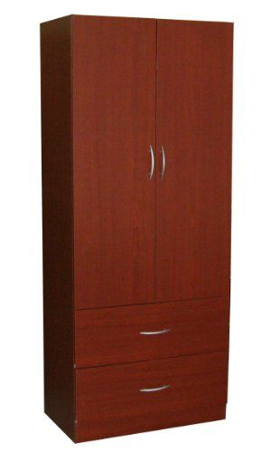 11% Off was $197.99, now is $176.00! Home Source Industries RL12203 Wardrobe with 2-Door and 2-Drawer, Mahogany
