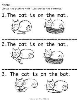 Hat Bat Cat Mat