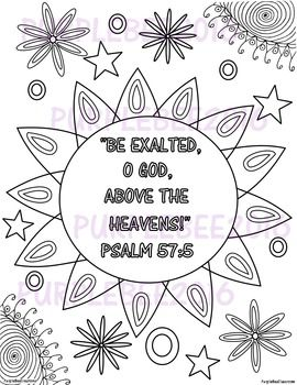 Bible Verse Coloring Page Psalm 57 5 Bible Verse Coloring Page Bible Verse Coloring Coloring Pages