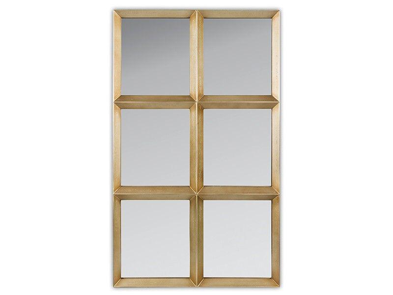 Espejo cuarterones dorado vintage | Espejos | Pinterest