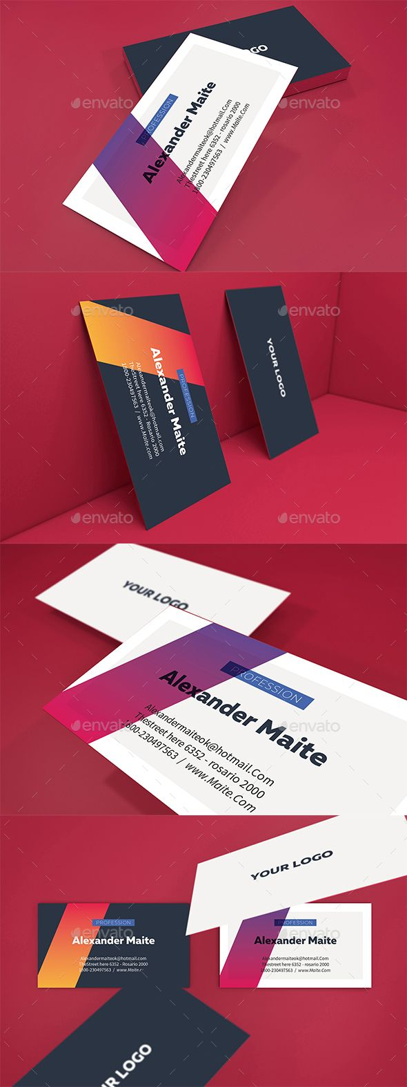 Gradient business card template card templates business cards and gradient business card template minimal deal download here https reheart Gallery