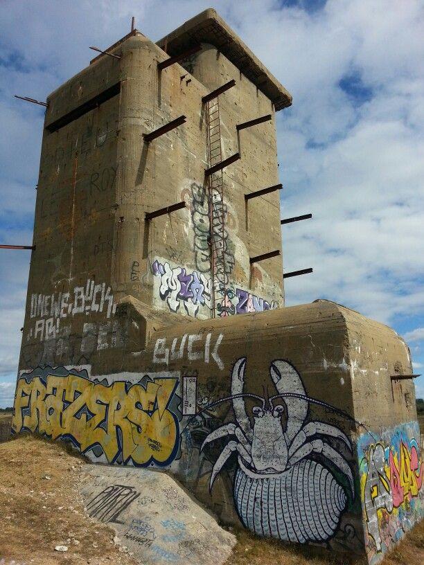 Plouharnel Watch Tower Graffiti Carnac Bretagne Bretagne Messe Noire