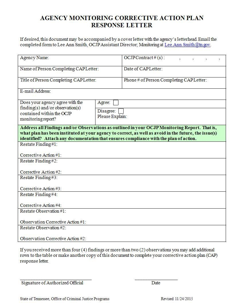 11+ Corrective Action Plan Examples In Word in 2020