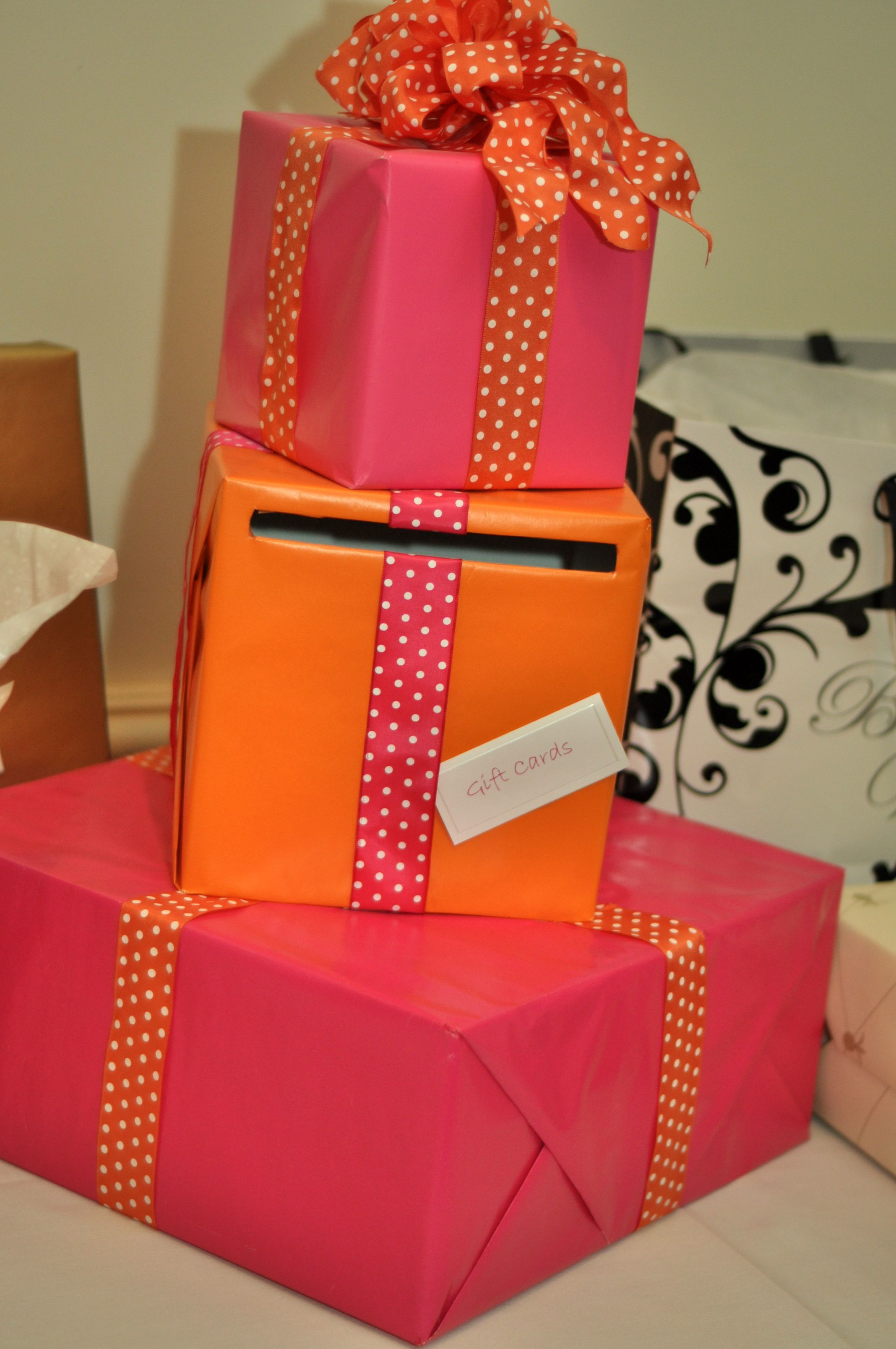 Wrapped Gift Box Made From Pottery Barn Boxes And Wrapping Paper