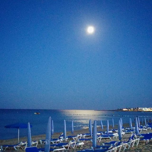 Under the moonlight Good evening from the beautiful island