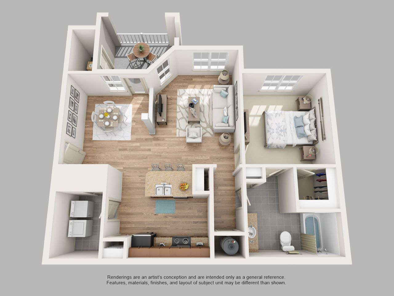The Residences At Renaissance S L Nusbaum Realty Co Tiny House Layout Modern Small House Design Apartment Floor Plans