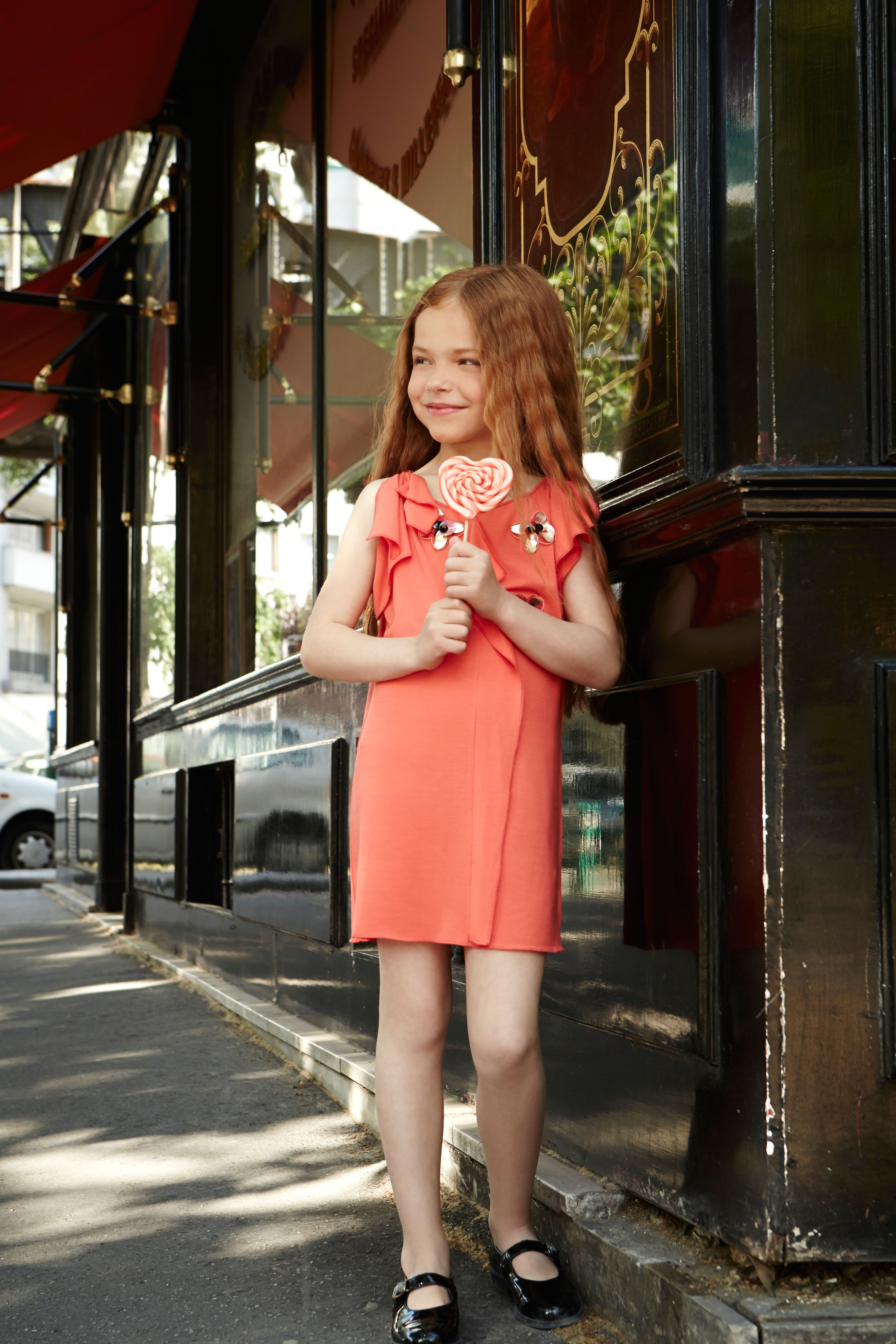 "From Italy to France, to feature the wonderful orange creations belonging to the ""Happy Flowers"" theme by Rykiel Enfant (@Sonia Rykiel) #orange #soniarykiel #SS14 #spring #summer #springsummer2014 #childrens #kids #childrenswear #kidswear #kidsfashion #girls #boys"