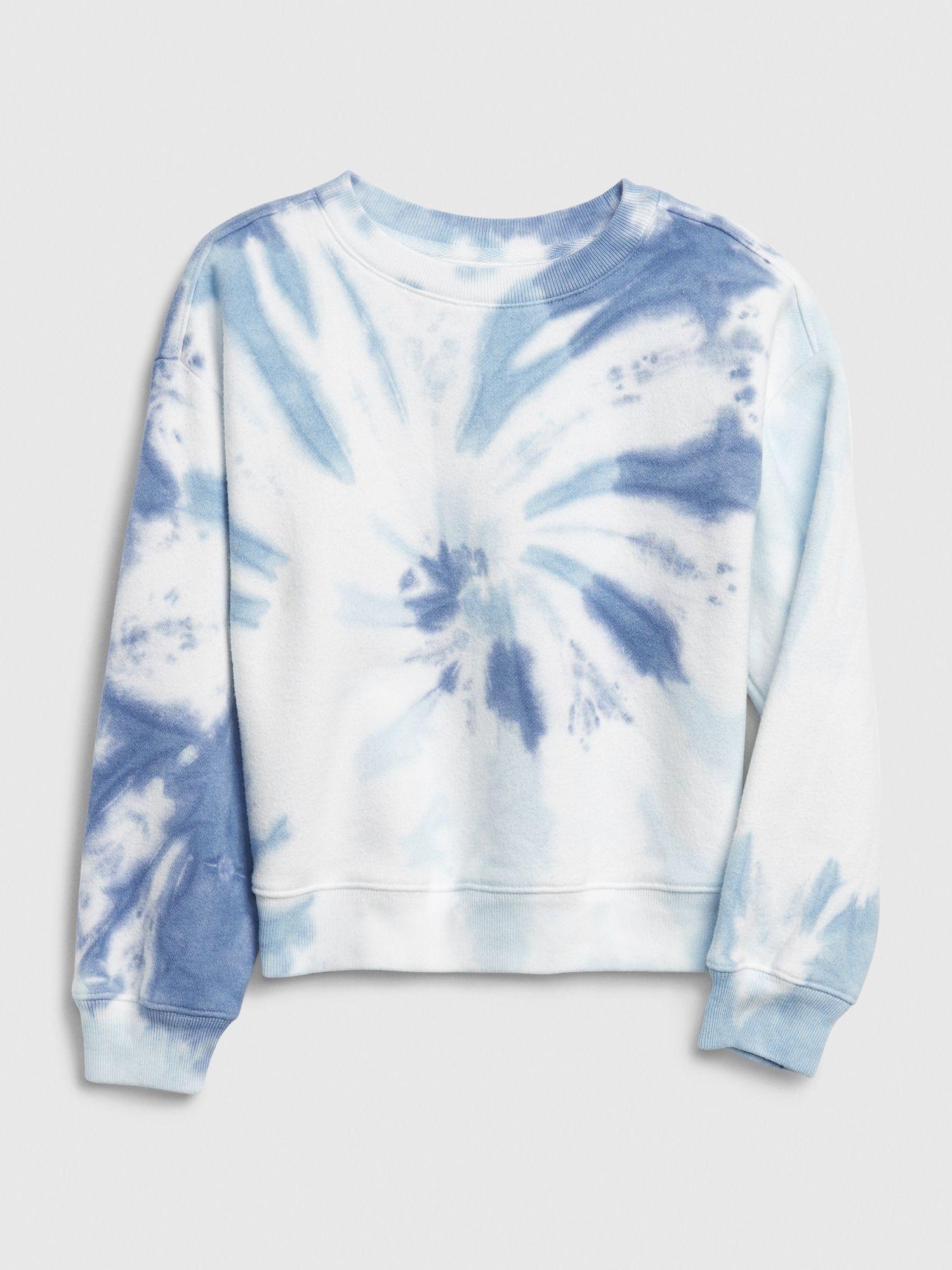 Gap Kids Tie Dye Crewneck Sweatshirt Radial Blue Tie Dye Tie Dye Girl Sweatshirts Tie Dye Crewneck Sweatshirts [ 2000 x 1500 Pixel ]