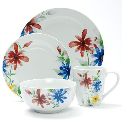 Corsica Home Bella 16-pc. Dinnerware Set just think it looks happy  sc 1 st  Pinterest & Corsica Home Bella 16-pc. Dinnerware Set Multicolor | Dinnerware ...
