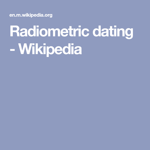 radiometric dating research
