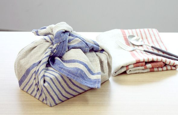 Linen towels inspired by old fabic pattern from NorraVilla