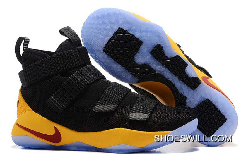bb32001efc52 2017 Nike LeBron Soldier 11 Black Yellow Wine Red Online in 2019 ...