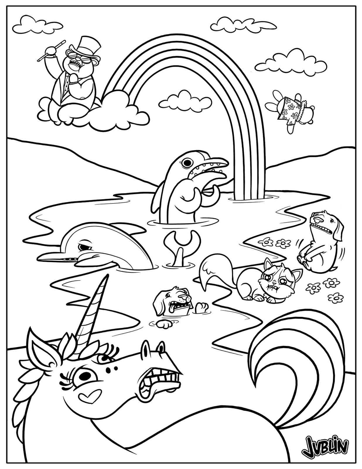 Super Punch: Oil Spill coloring page | colouring | Pinterest