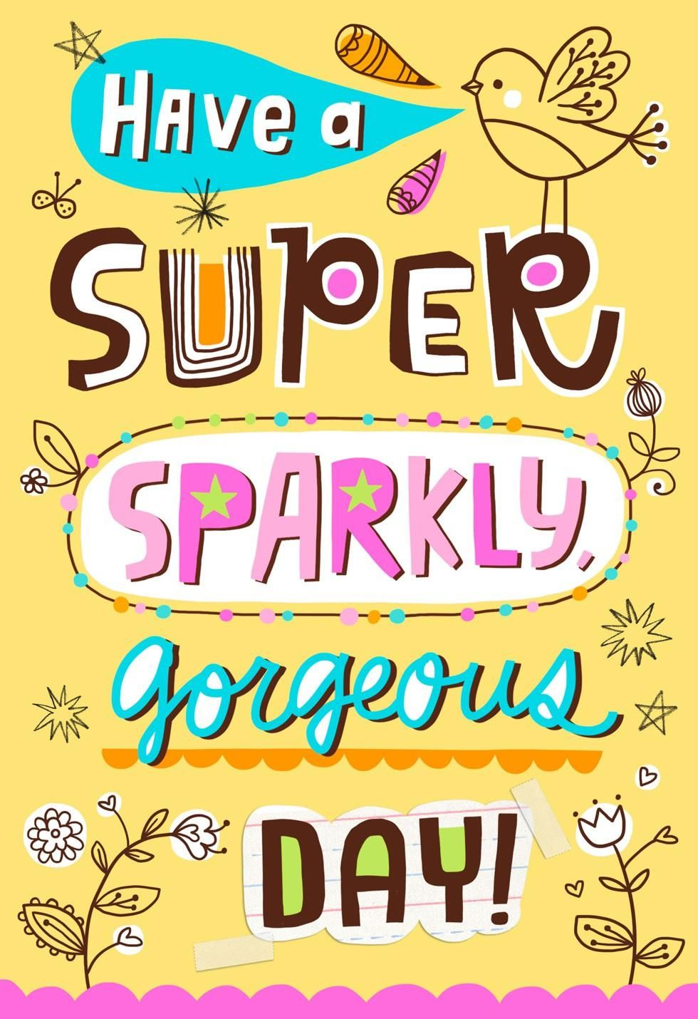 Wish a sweet, sassy, fabulous girl the super sparkly