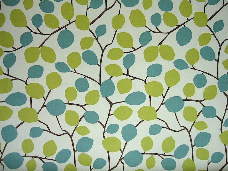 Clarke Clarke Scandia Nissa F0331 06 Wasabi Cotton Curtain Fabric Drapery Fabric Upholstery Fabric Curtain Fabric