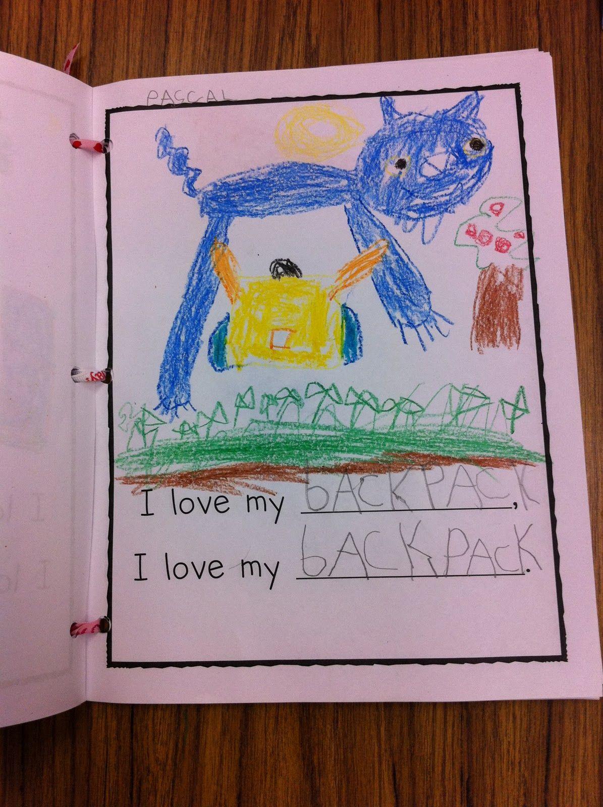 class book - i love my cool school | Writing | Preschool literacy